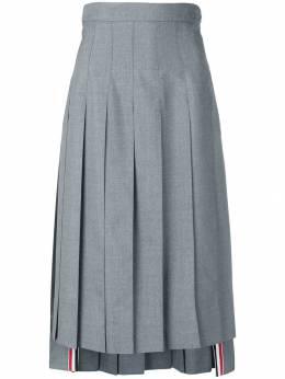 Thom Browne юбка с завышенной талией и складками FGC677A02872
