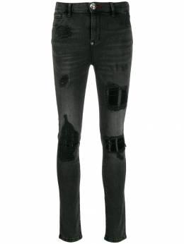 Philipp Plein джинсы скинни с эффектом потертости F19CWDT1170PDE004N