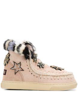 Mou декорированные ботинки с нашивками FW111006A