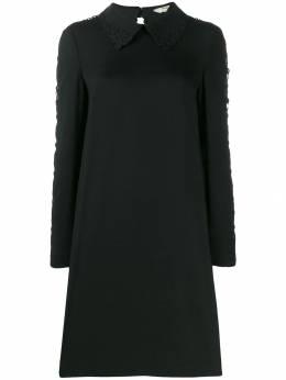 Fendi платье-рубашка с кружевными рукавами FDA597A5HG