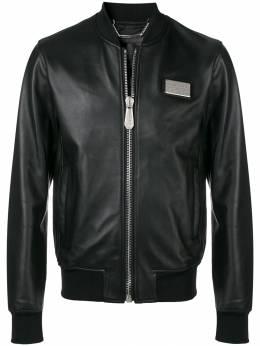 Philipp Plein куртка с вышитым логотипом P19CMLB0677PLE010N