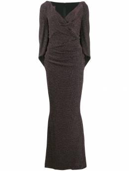 Talbot Runhof длинное платье с эффектом металлик TONALA1EK30