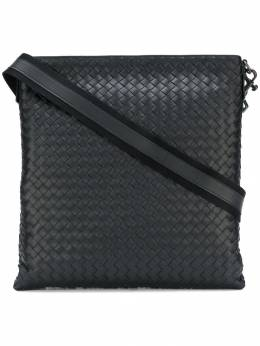 Bottega Veneta nero Intrecciato large messenger bag 276356V465C