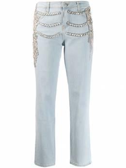 Philipp Plein джинсы бойфренды с кристаллами F19CWDT1214PTE003N