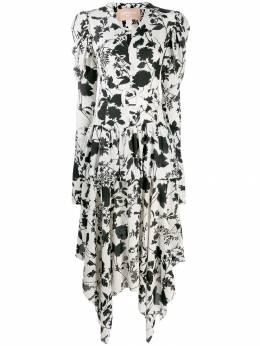 Materiel длинное ярусное платье с цветочным принтом MPF19LAM17212DRFL