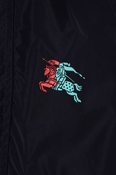 Синяя куртка с логотипом Burberry Kids 1253124364 - 3