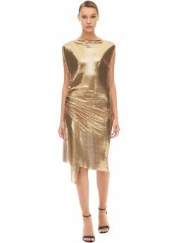 Платье Из Сетки Меш Paco Rabanne 70IMDQ045-UDcxMA2