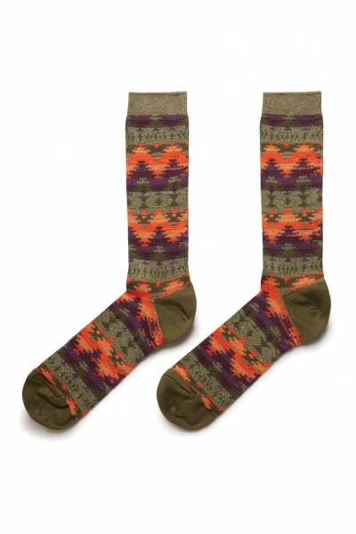 Высокие носки с цветными узорами Anonymousism 2878127622 - 2