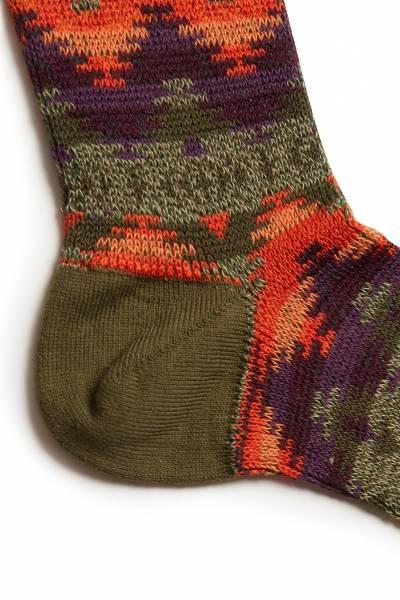Высокие носки с цветными узорами Anonymousism 2878127622 - 3
