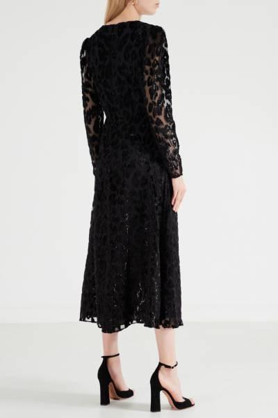 Платье с люрексным леопардовым мотивом Self-Portrait 532138431 - 3