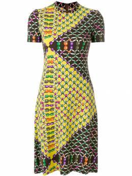 Lanvin Pre-Owned платье с принтом с короткими рукавами LNV750