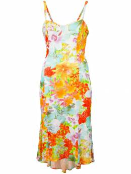 Versace Pre-Owned платье с цветочным принтом V450C