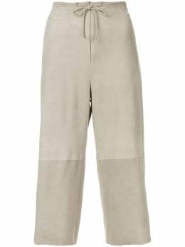 Salvatore Ferragamo Pre-Owned укороченные брюки с талией на шнурке FER350S