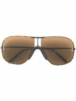 Stella Mccartney Eyewear объемные солнцезащитные очки-авиаторы SC0137S