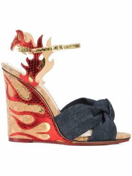Charlotte Olympia туфли на платформе с принтом OLC18563301360