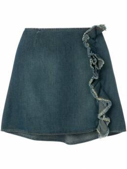 Moschino Pre-Owned джинсовая юбка с оборками MO100C