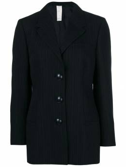 Versace Pre-Owned пиджак в полоску VRS350H