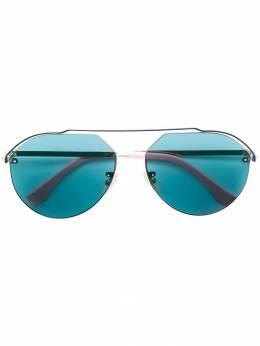 Fendi Eyewear солнцезащитные очки-авиаторы с затемненными линзами FFM0031S3YGMTGREENGLDPI