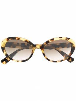 Miu Miu Eyewear солнцезащитные очки в овальной оправе MU01US7S0Q
