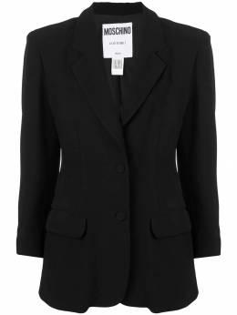 Moschino Pre-Owned пиджак с нашивкой MSC750