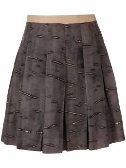 Prada Pre-Owned короткая плиссированная юбка 2000-х PRA180AD