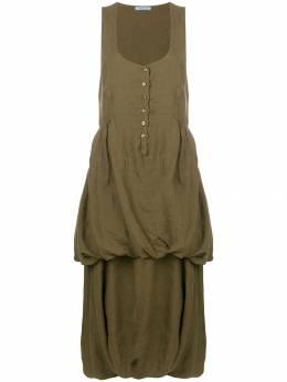 Prada Pre-Owned платье без рукавов со сборками PRA450L