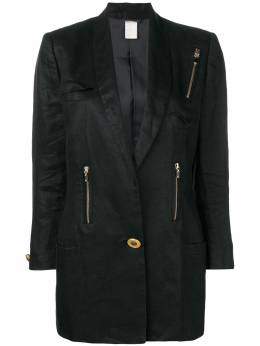 Versace Pre-Owned блейзер с молниями VRS750C