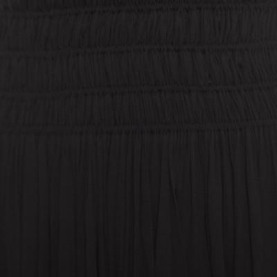 Alaia Black Stretch Shirred Elasticized Waist Maxi Skirt S 168252 - 3