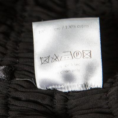 Alaia Black Stretch Shirred Elasticized Waist Maxi Skirt S 168252 - 5