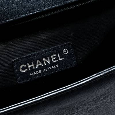 Chanel Navy Blue Quilted Leather Large Boy Flap Bag 181339 - 8