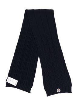 Moncler Enfant трикотажный шарф 000160504S02