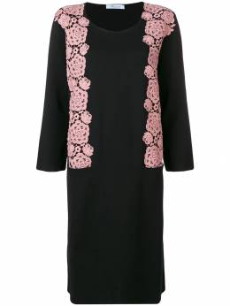 Blumarine платье-свитер с цветочной вышивкой 2062