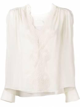 Chloe блузка с V-образным вырезом CHC19SHT58002