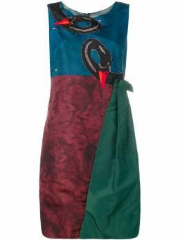 Prada Pre-Owned короткое платье с декором в виде лебедей PRA950C