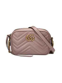 Gucci стеганая мини-сумка GG Marmont 448065DTD1T