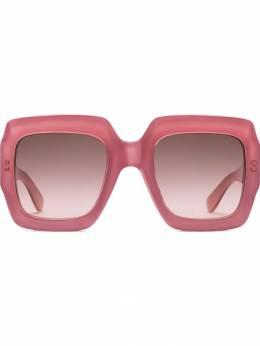 Gucci Eyewear солнцезащитные очки в квадратной оправе 491426J0740