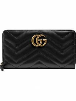 Gucci кошелек 'GG Marmont' с круговой молнией 443123DTD1T