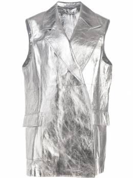 Calvin Klein 205W39nyc куртка металлик без рукавов 84WLJA52L088