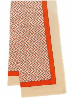 Burberry легкий кашемировый шарф с принтом 8011867
