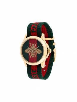 Gucci наручные часы с вышивкой 459212I86K0