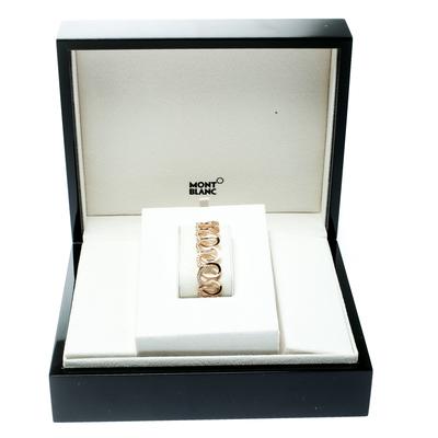 Montblanc Princesse Grace de Monaco Petal Intertwined Diamond 18k Rose Gold Bracelet 175810 - 5