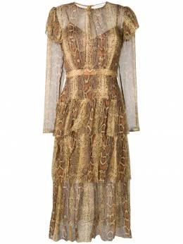 Zimmermann платье миди Ninety-Six 5754DNIN