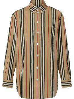 Burberry рубашка в полоску Icon Stripe 8011359