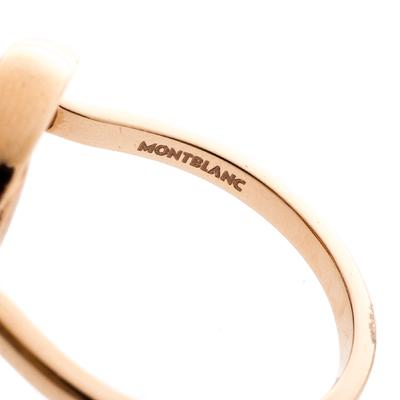 Montblanc Rotating Emblem Mother of Pearl 18k Rose Gold Ring Size 56 201747 - 5