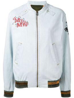 Mr & Mrs Italy куртка бомбер с нашивками BB041E