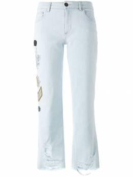 Mr & Mrs Italy джинсы с нашивками JE023E