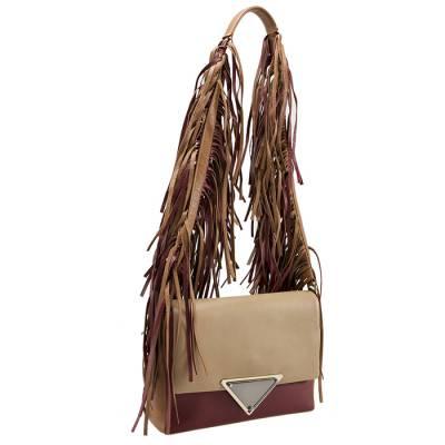 Sara Battaglia Multicolor Leather Teresa Fringe Shoulder Bag - 2