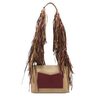 Sara Battaglia Multicolor Leather Teresa Fringe Shoulder Bag - 3