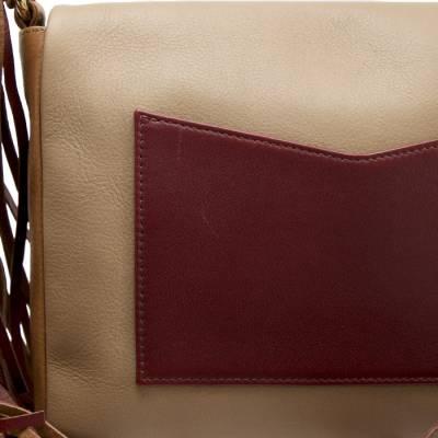 Sara Battaglia Multicolor Leather Teresa Fringe Shoulder Bag - 5