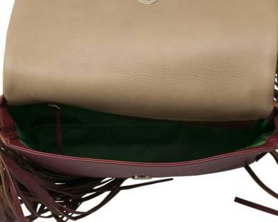 Sara Battaglia Multicolor Leather Teresa Fringe Shoulder Bag - 6
